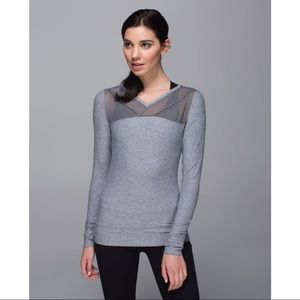 Lululemon Just Breathe Long Sleeve, Light Grey, 8